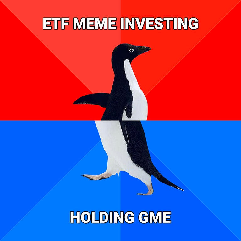ETF MEME Investing Or how to hold GME